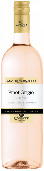 Pinot Grigio Rosato IGT delle Dolomiti Mastri Vernacoli Cavit Trentin Roséwein trocken
