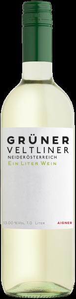 Grüner Veltliner Ein Liter Wein QUW Niederösterreich Aigner Weißwein trocken | Saffer's WinzerWelt