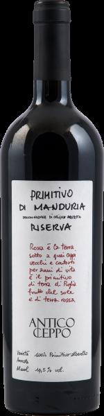 Primitivo di Manduria Riserva DOP Antico Ceppo Masca del Tacco Apulien Rotwein trocken