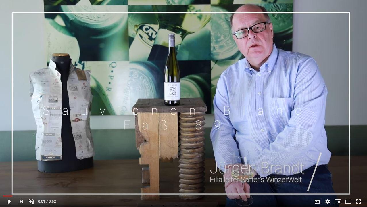 Sauvignon Blanc Faß 89 trocken QbA Thörle Rheinhessen Weißwein