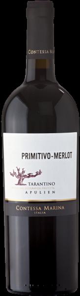 Primitivo Merlot Tarantino IGT Contessa Marina Apulien Rotwein halbtrocken