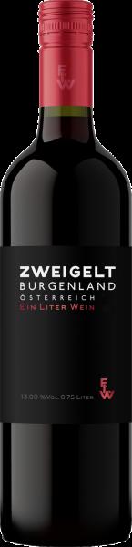 Zweigelt Burgenland QUW Ein Liter Wein 1,0l Aigner Rotwein trocken | Saffer's WinzerWelt