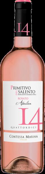 Primitivo Salento IGT Rosato 14 Contessa Marina Apulien Roséwein trocken