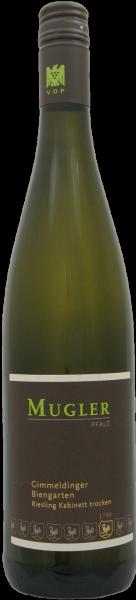 Riesling Biengarten 1. Lage QbA Mugler Pfalz Weißwein trocken