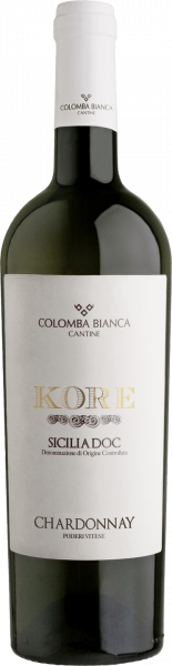 Chardonnay Sicilia DOC Kore Colomba Bianca Sizilien Weißwein trocken
