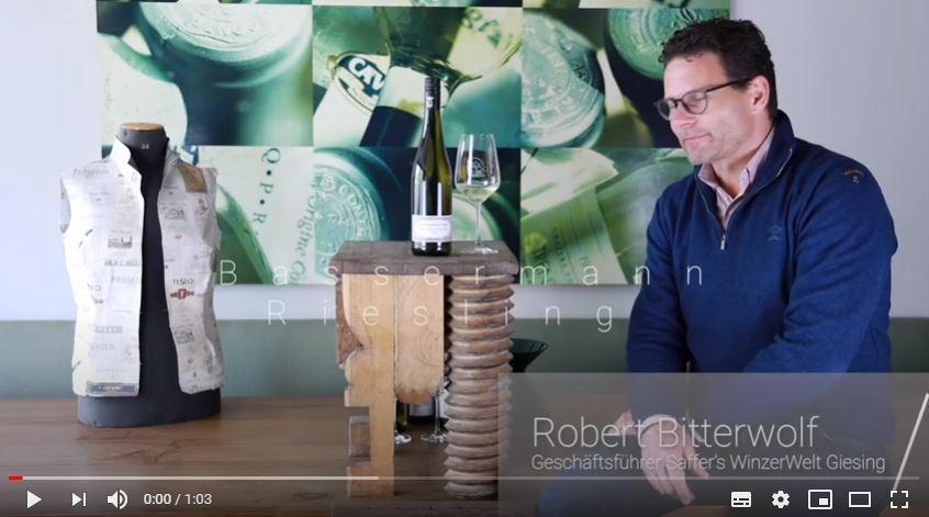 Bassermann Riesling trocken QbA Pfalz Weißwein