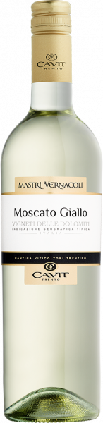 Moscato Giallo Vigneti delle Dolomiti IGT Mastri Vernacoli Cavit Trentin Weißwein trocken