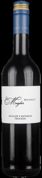Muglers Rotwein Cuvée trocken QbA Pfalz