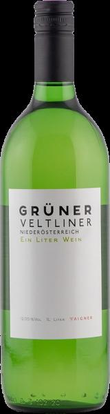 Grüner Veltliner Ein Liter Wein QUW Niederösterreich Aigner Weißwein trocken