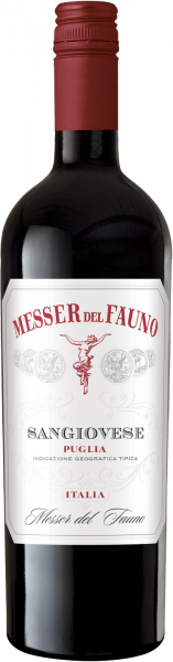 Sangiovese Puglia IGT Messer del Fauno Apulien Rotwein halbtrocken
