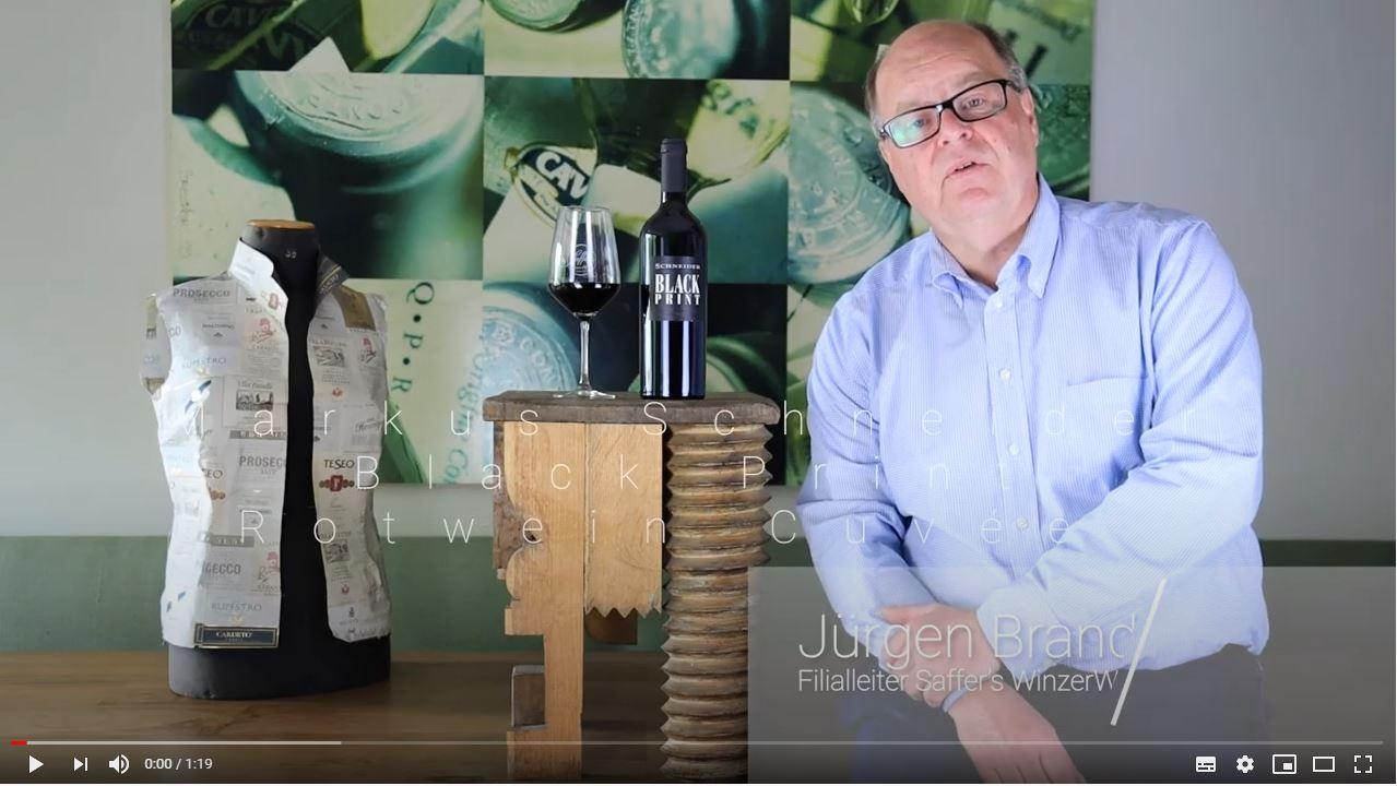 Markus Schneider Black Print Rotwein Cuvée trocken QbA Pfalz Rotwein