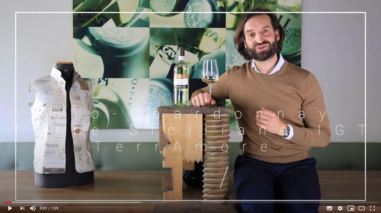 Bio-Chardonnay Terre Siciliane IGT TerrAmore Sizilien Weißwein trocken