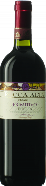 Primitivo Puglia IGT Rocca Alta Castellani Apulien Rotwein trocken