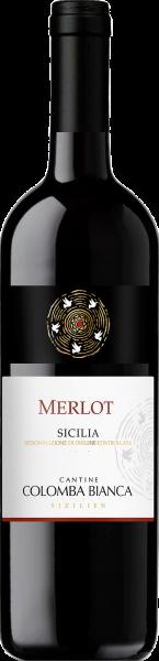 Merlot Sicilia DOC Colomba Bianca Sizilien Rotwein trocken